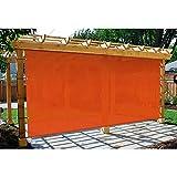 GZHENH Solar Sombra Paño Toldo Casero Balcón Patio Proteccion Solar Red De Aislamiento Marquesina Al Aire Libre Sombrilla Tasa De Sombra 95% con Ojal Fácil De Colgar (Color : Orange, Size : 4X4m)