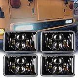 4x6 inch LED Headlights Rectangular Lights...
