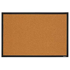 Bulletin board with natural cork surface; Ideal for personal use at home. The use frequency is light 2 Inch x 3 feet size is perfect for wall mounting Features a black finish frame Cork is fully tackable; secure items with push pins or thumbtacks Fle...