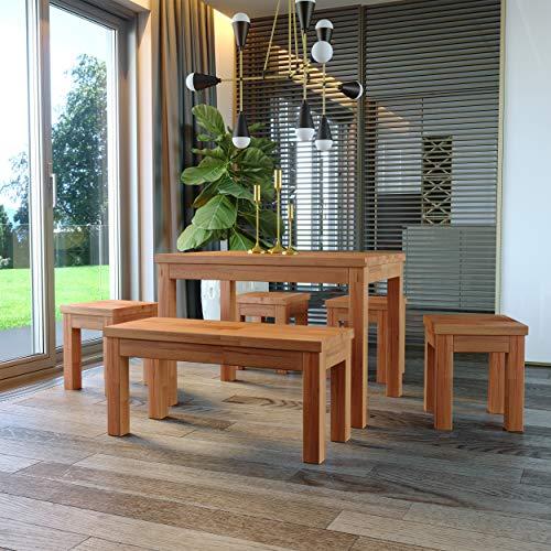Krok Wood Esstisch Milano aus Massivholz in Buche (110 x 75 x 77)