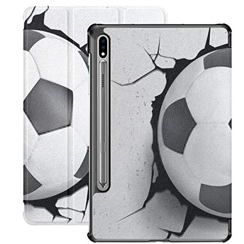 Estuche para Galaxy Tab S7 Estuche Delgado y liviano con Soporte para Tableta Samsung Galaxy Tab S7 de 11 Pulgadas Sm-t870 Sm-t875 Sm-t878 2020 Lanzamiento, Ilustración Vectorial Deportiva Pelota de
