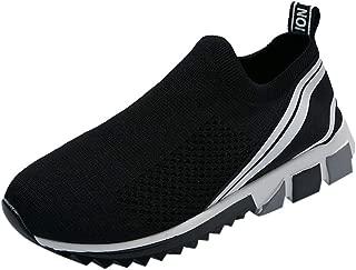 JJLIKER Men's Mesh Slip-On Sneaker Summer Comfortable Breathable Casual Athletic Shoe Walking Running Loafer