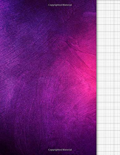 Knitting Graph Paper Notebook: 4:5 Ratio | Blank Knitters Design Journal | 120 pages | Letter Format 8.5'x11' | Purple Violet Cover