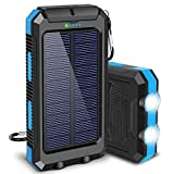 Solar Charger, 20000mAh Portable Outdoor Waterproof Solar Power Bank, Camping External Backup...