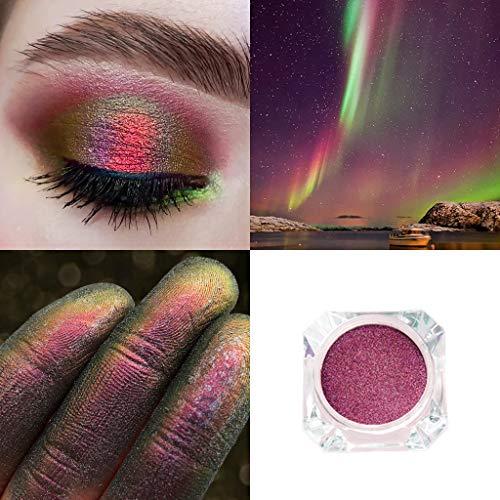 Cwemimifa Palette Eyeshadow Peach,Wasserdichtes Glitterpigment Lidschattenpuder Langlebiger Schimmer...