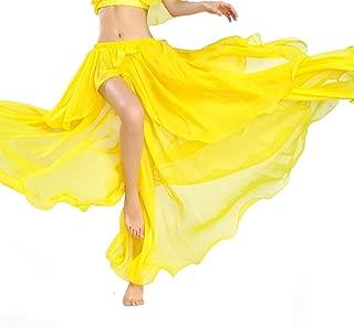 ROYAL SMEELA ROTAL SMEELA Bauchtanz Rock Sexy Mode Performance Frauen Röcke Hochwertiger Chiffon Teilt Großer Swing-Rock Kleider Tanzkleidung Eine Größe