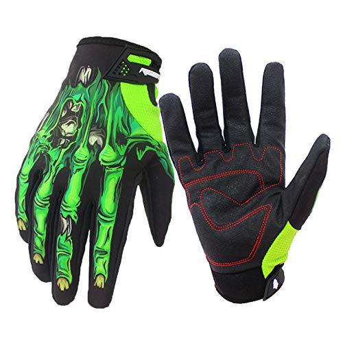 Motorrad handschuh Motorradhandschuhe, Herren-Touchscreen-Motorradhandschuhe Winterwarme Winddichte Motohandschuhe Schädel-Cartoon-Handschuhe für Motocross-Klettercamping im Freien