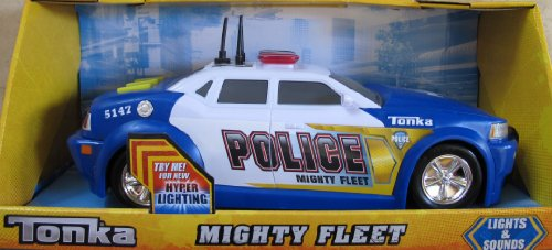 Tonka POLICE CAR Mighty Fleet w LIGHTS & Hyper SOUNDS (2012)