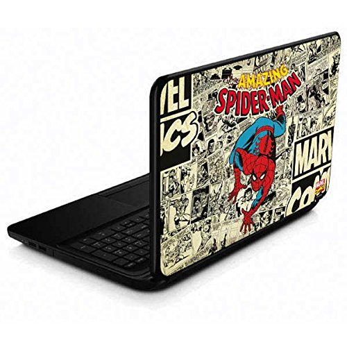 Skinit Decal Laptop Skin Compatible with 15.6 in 15-d038dx - Officially Licensed Marvel/Disney Amazing Spider-Man Comic Design