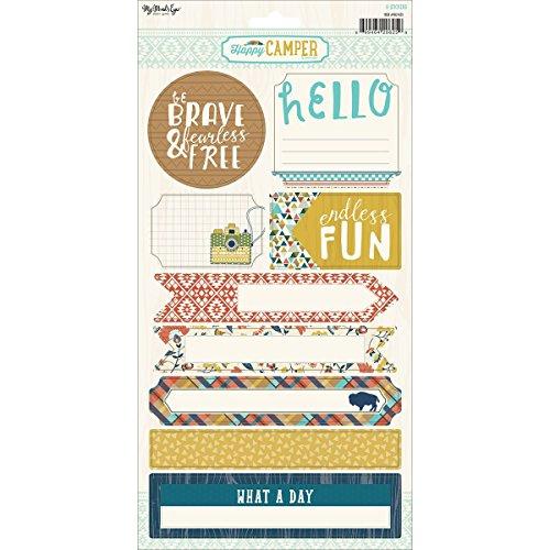 My Minds Eye Happy Camper Stickers 6 x 12-inch, andere, Multi kleuren, 0.02x15.24x30.48 cm