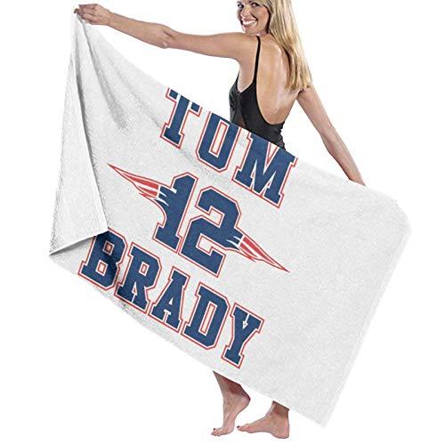 Tom Brady Toalla de baño de fibra superfina, manta de playa, unisex, sin arena, transpirable, toalla de baño, 32 x 52 pulgadas