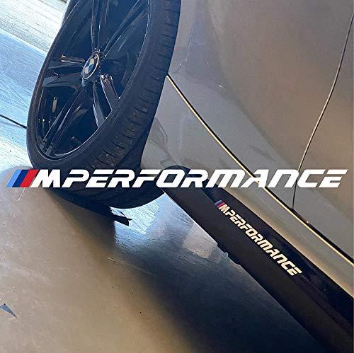 Graphic Worx 2 x M Sport Performance Aufkleber Aufkleber, Abzeichen, Logo, 250 mm x 13 mm, Weiß