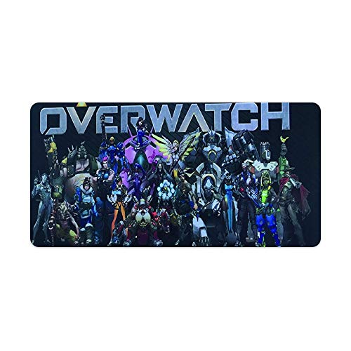 Extended Gaming Mouse Pad for Overwatch Heros, Large Desk Mat,Waterproof No-Slip and with Stitched Edges Mousepad 12x24 inch