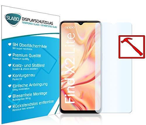 Slabo 3 x Premium Panzerglasfolie für Oppo Find X2 Lite Panzerfolie Schutzfolie Echtglas Folie Tempered Glass KLAR 9H Hartglas