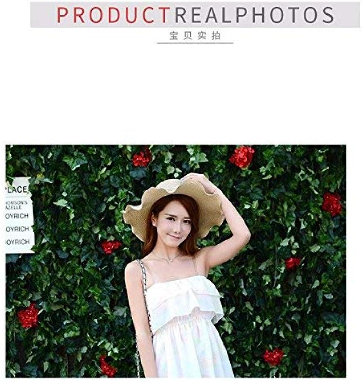 Dianye Female straw hat summer big sunscreen beach foldable casual England sun hat