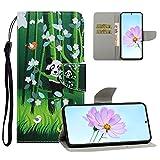 Yewos Cover Portafoglio per Huawei P30 PRO PU Pelle Custodia con Disegni 360 Gradi Protezione per Donna,Libro Flip Supporto Caso con Porta Carte e Cinturino da Polso,Panda Carino