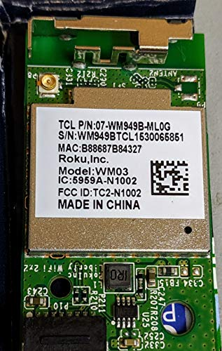 5959A-N1002 (WM03) TCL 32S3750, TCL 55FS3700, Roku Wireless Module Compatible for Sharp and 55FS3750 55FS4610R, LC-50LB481U,LC-43LB371U,Insignia NS-40DR420na16
