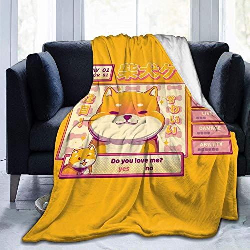 Yuantaicuifeng Shiba Novel Throw Blanket Geeignete Ultra Soft Weighted Bedding Fleece Decke für Schlafsofa Office 80 'x 60' Travel Multi-Size für Erwachsene