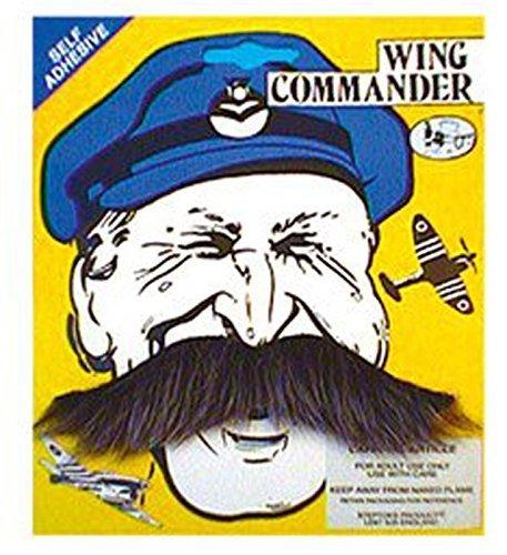 Accessoires pour déguisement Style fausse Moustache 1940s commandant en forme de Moustache