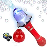 ArtCreativity Light Up Shuttle Bubble Blower Wand - 12.5 Inch Illuminating Bubble Blower with Thrilling LED Effects, Batteries and Bubble Fluid Included, Great Gift Idea, Party Favor - Assorted Colors