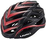 LIVALL bh62Música, luz Trasera, Intermitente, Sistema de navegación, función de Llamada y SOS Bicicleta Casco, Todo el año, Unisex, Color Blanco/Rojo, tamaño 55-61cm