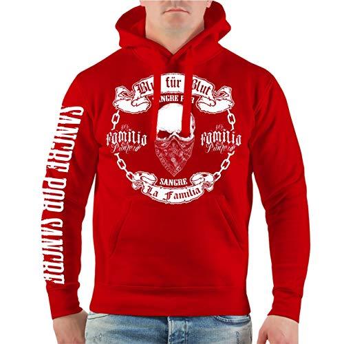 Life Is Pain Männer und Herren Kapuzenpullover La Familia Blut für Blut (mit Rückendruck) Größe S - 4XL