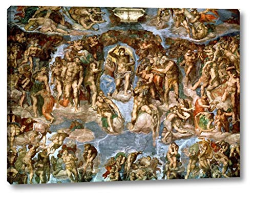"Il Giudizio Universale by Michelangelo Buonarroti - 12"" x 16"" Canvas Art Print Gallery Wrapped - Ready to Hang"