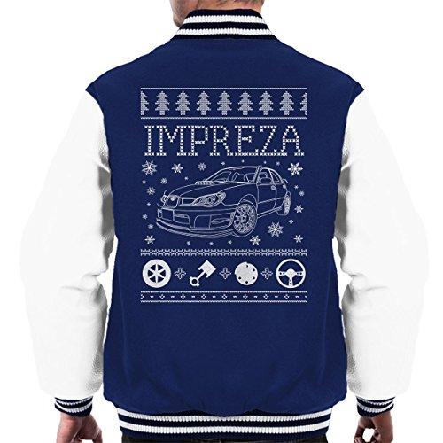 Cloud City 7 Subaru Impreza Christmas Knit Men's Varsity Jacket