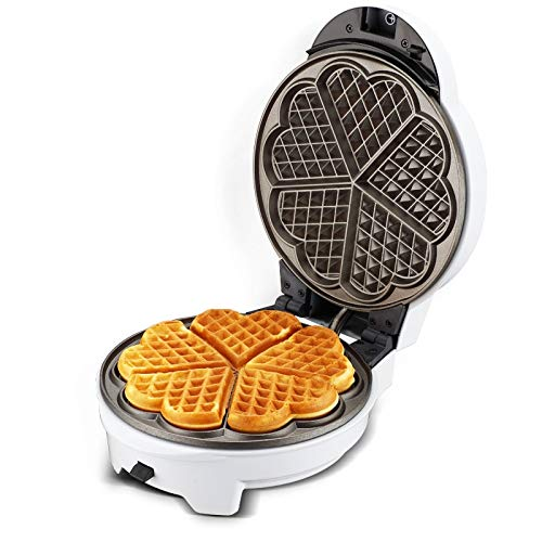 Electric Sandwich Maker,Waffle Maker, 220V White Color Multifunctional Breakfast Machine , Non-Stick Optional Plates Household Waffle Donut Cake Maker Machine ,7 Plate