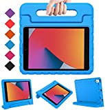 BMOUO iPad 8th Generation Case for Kids,iPad 7th Generation Case,iPad 10.2 Case, Shockproof Light Weight Convertible Handle Stand Kids Case for New iPad 10.2' 2020 Latest Model, Blue