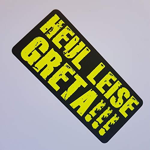 Foliezentrum Heul Stil Greta Neon Geel Zwart Stickers Shocker Hand Auto JDM Tuning OEM Dub Decal Stickerbomb Bombing Sticker Illest Dapper Fun Oldschool