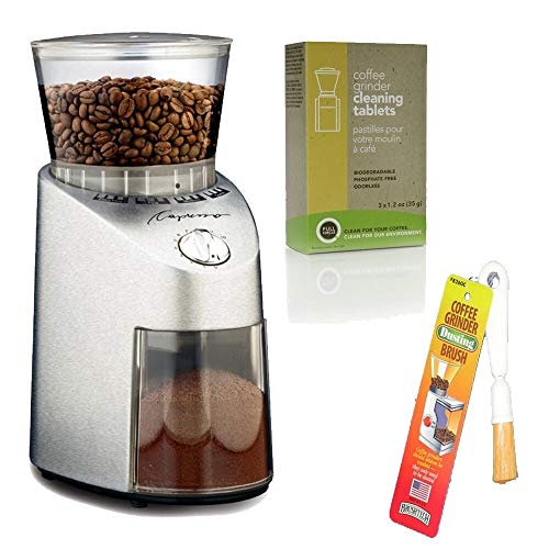 Capresso 565.05 Infinity Conical Burr Grinder Bundle