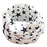 Tangbasi® Bufanda de cuello con diseño de estrellas, para niños y niñas, de algodón