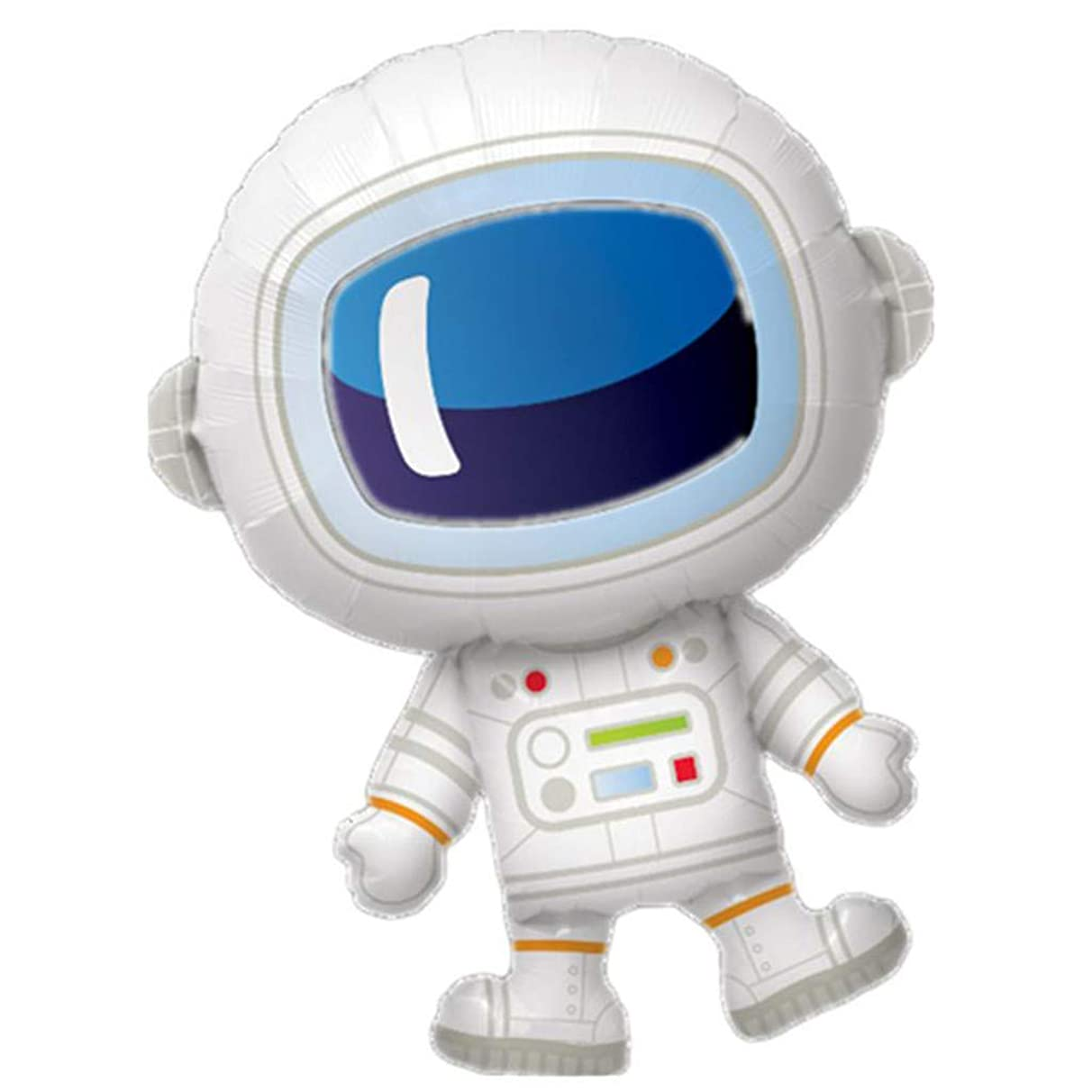 Binory 5pcs Astronaut Shaped Balloon Space Themed Party Favors Decorations, Children's Universe Galaxy Birthday Party Astronaut and Rocket Balloons Room Decor