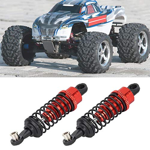 RC Auto Stoßdämpfer, 1 Paar 65mm Metall Stoßdämpfer Dämpfer für 1:18 RC Modellauto Ersatzteile Zubehör (rot)
