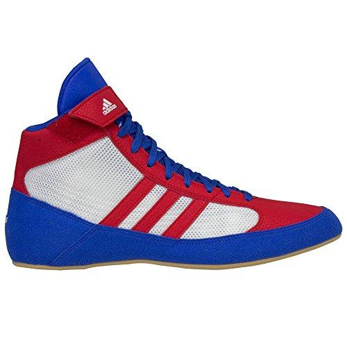 Adidas Hvc cordones zapatos de lucha - 14 - azul / rojo / blanco