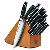 J.A. Henckels International Forged Premio 19-piece Knife Set with Cherry Block