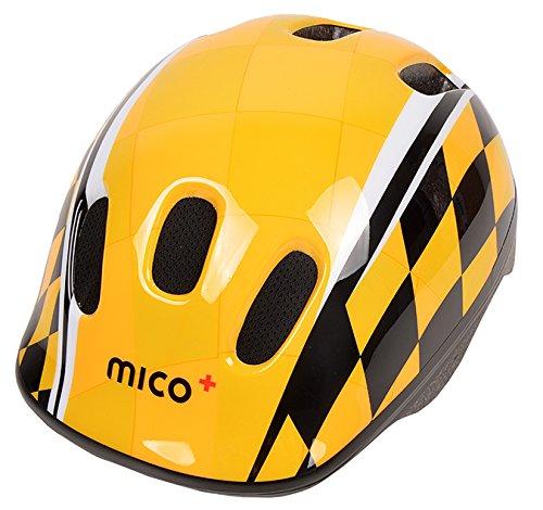 Mico Plus Fahrradhelm Helm Fahrrad Kinder Kinderhelm mitwachsender Radfahren Junge Race (S)
