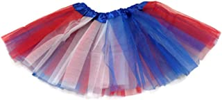 red white and blue baby tutu