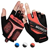 Achiou Cycling Bicycle Gloves Half Finger Mountain Bike Road Racing Gloves Gel Pad