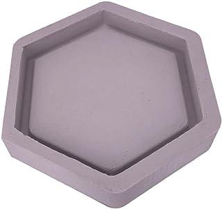 Decaden Hexagonal en Forma de macetas de Cemento moldes de Molde de Silicona de hormigón Titular