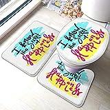 YHKC Hogar Jardín Hogar Cocina Categorías Baño Alfombrillas de baño Fashion Bathroom Rug Mats Set 3 Piece I Know The Secret of Happiness Simple Anti-Skid Pads Bath Mat + Contour Pads + Toile