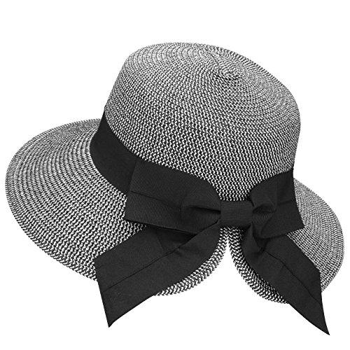 Verabella Womens Hats Summer Sun Hat for Women Foldable/Packable Women Beach Hat Floppy Women's Sun Hats Beach Straw Bucket Hat Women Hats for Summer,Mix