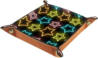 BestIdeas Panier de rangement carré 20,5 × 20,5 cm, avec étoile à paillettes, boîte de rangement sur table pour la maison,...