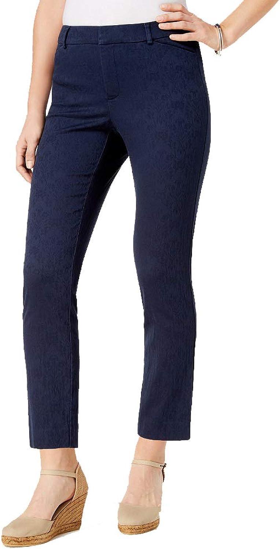 Charter Club Printed TummyControl Slim Ankle Pants