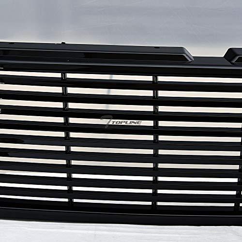 Topline Autopart Matte Black Mesh Front Hood Bumper Grill Grille ABS For 99-02 Chevy Silverado 1500 2500//00-06 Tahoe Suburban