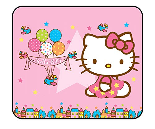Hello Kitty Mouse Pad - Cartoon Cute Pink Kawaii Mousepad for Girls,Personalized Computer Decoration Mouse Pad for Kids 11.81 x 9.84 x 0.12Inch