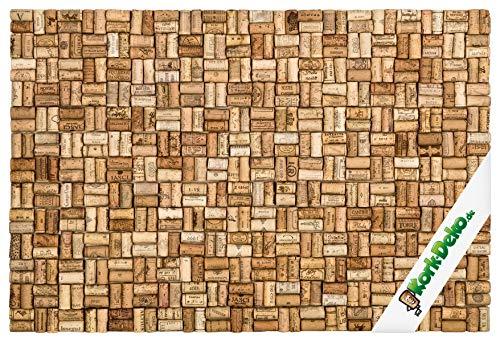 Kork-Pinnwand – XL Pinnwand aus gebrauchten oder neuen Korken/Weinkorken – 90 x 60 cm – 100% Naturkorken – elegant und stilvoll – Accessoire für Küche und Wohnzimmer (Gebrauchte Korken)