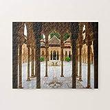 CiCiDi Court of The Lions, Alhambra, Spain - Puzzle 1000 Pieces for Adult Entertainment DIY Toys , Graet Gift Home Decor