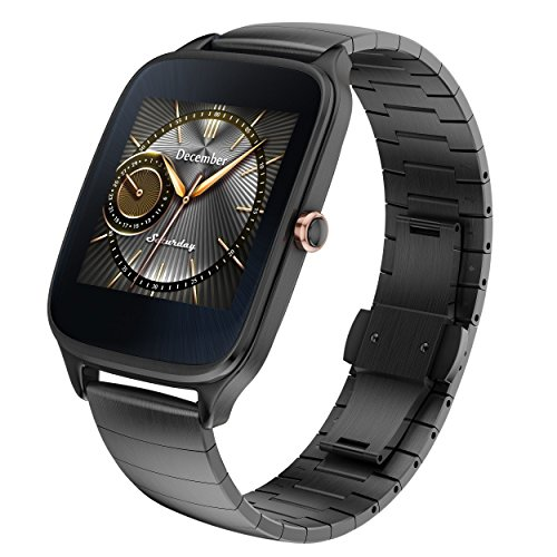 ASUS ZenWatch 2 Silver with Beige Leather Strap 37mm Smart Watch with...